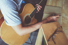 Guitar composion Stock Photo