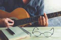 Guitar composion Stock Photography