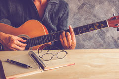 Guitar composion Royalty Free Stock Photo
