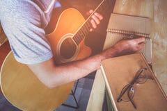 Guitar composion Stock Photos