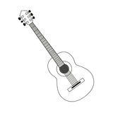 Guitar contour black white Stock Photos