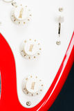 Guitar control knobs above view Royalty Free Stock Photos