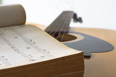 Guitar for create music Stock Image