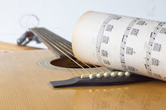 Guitar for create music Royalty Free Stock Photography