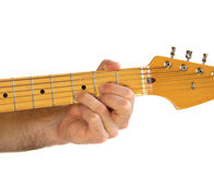 Guitar D Chord Royalty Free Stock Photo