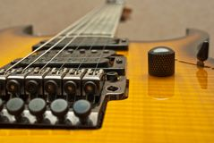 Guitar deck and fretboard Royalty Free Stock Images