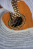 Guitar deck through the notes Royalty Free Stock Photo