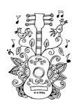Guitar. Decorative ornament. Stock Photo