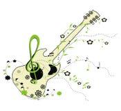 Guitar - decorative ornament, vector illustration Stock Photos