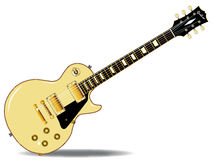 Guitar. The definitive rock and roll guitar in cream, isolated over a white background Royalty Free Stock Images