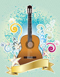 Guitar design. Vector illustration of classical guitar with colorful design Royalty Free Stock Photo