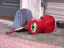 guitar with design of an eye Royalty Free Stock Image