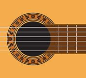 Guitar detail - guitar sound hole Royalty Free Stock Photography