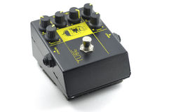 Guitar distortion pedal effect Royalty Free Stock Photos
