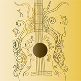 Guitar doodle Stock Photography