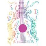 Guitar doodle Stock Photos