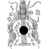 Guitar doodle Stock Images
