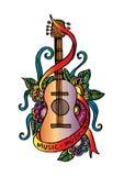 Guitar doodle Royalty Free Stock Photos