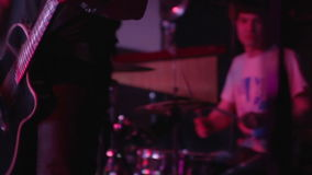 Guitar and drums stock video footage