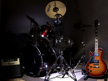 Guitar & Drums Royalty Free Stock Photo