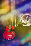 Guitar and drums on stage Royalty Free Stock Images