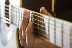 Guitar effort Royalty Free Stock Photos