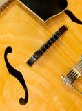 Guitar. Electric guitar closeup with strings and bridge stock image