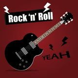 Guitar electric rock and roll vector Royalty Free Stock Photography