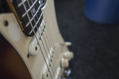 Guitar. This is an electro guitar royalty free stock images
