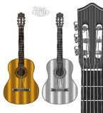 Guitar in engraving style Royalty Free Stock Images
