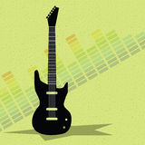Guitar and equalizer vector Stock Photo