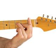 Guitar F Chord Stock Image