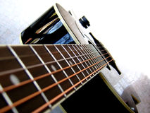 Guitar Fever. A beautiful picture of a black guitar Royalty Free Stock Photography