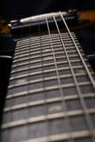 Guitar fingerboard close up Stock Image