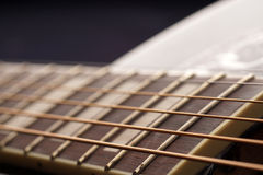 Guitar fingerboard close up Stock Photos