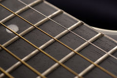 Guitar fingerboard close up Royalty Free Stock Photo