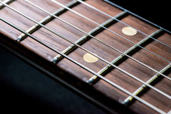 Guitar fingerboard Stock Photography