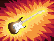 Guitar in fire Royalty Free Stock Photos