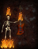 Guitar Fire Royalty Free Stock Images