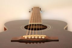 Guitar floating into the mist royalty free stock photography