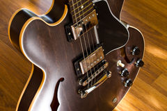 Guitar on the floor Stock Photos