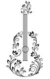Guitar with floral details Stock Images