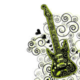 Guitar flyer/background Royalty Free Stock Photo