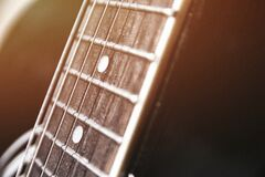 Guitar Fret Stock Photography