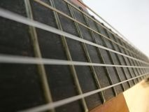 Guitar fret. Classical guitar fret close-up Royalty Free Stock Image