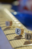 Guitar fret with cubes Stock Photography