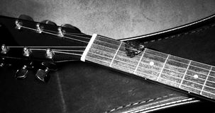 Guitar fretboard Stock Photography