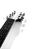 Guitar. Fretboard. Black-and-white image. Royalty Free Stock Images