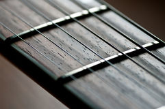 Guitar Fretboard Close-up Royalty Free Stock Image