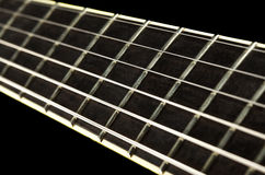Guitar Fretboard Closeup Stock Images